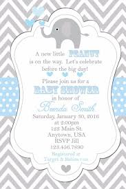 Print Your Own Invites Details About Personalised Elephant Baby Shower Party