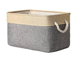 Decorative Storage Boxes For Closets Amazon TheWarmHome Decorative Basket Rectangular Fabric 33
