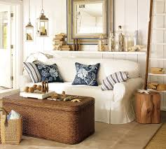 ... Tips For Coastal Home Decor With Square Table And White Sofas With  Pillows And ...