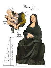 best mona lisa parodies images mona lisa amigos  paper dolls that defy classification part 1 papercraftmona lisa