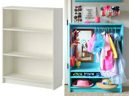 bookshelf dress up closet