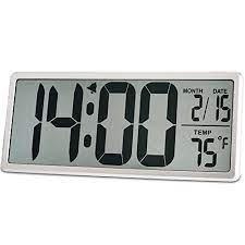 large lcd screen display alarm clock