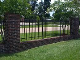 Brick Columns And Wrought Iron Fences Fences Design