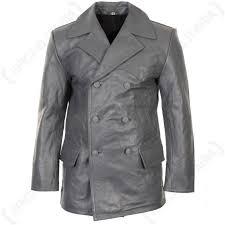 german grey leather u boat jacket main