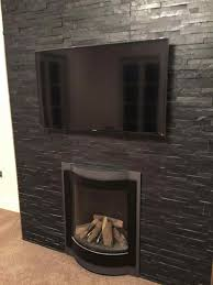 fireplace hearth ideas added tan a walk through we retiled the a grey slate fireplace walk