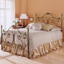 iron bedroom furniture. aynsley iron bed with ornate scroll work and cast accents pictured in the finish bedroom furniture e