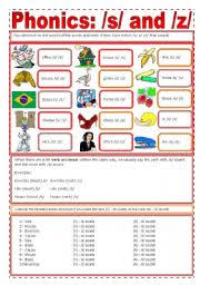 Students work on starting and finishing words. Phonics S Z Esl Worksheet By Zailda
