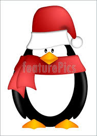 holiday penguin clip art. Plain Clip Penguin With Santa Hat And Red Scarf Clipart To Holiday Clip Art