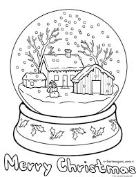 Small Picture Printable christmas snow globe coloring pages Free Printable