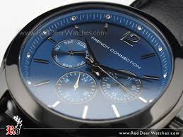 buy french connection chronograph blue dial leather strap unisex french connection chronograph blue dial leather strap unisex watch fc1144bb