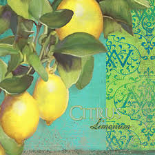 tuscan lemon wall art