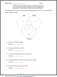 Venn Diagram Practice Sheets Venn Diagram Math Worksheets 3rd Grade Eurotekinc Com