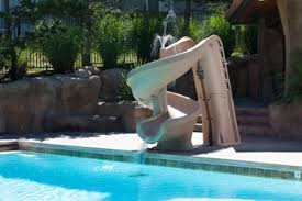 Cool Swimming Pools With Slides Helix Pool Slide Cool Swimming