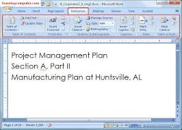 in microsoft word 2007 creating a table of contents is really easy one thing you need to make sure is that you type your doent using one of the heading