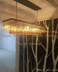 glamorous odeon glass fringe rectangular chandelier 24