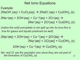 25 net ionic equations example