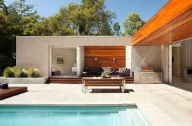 modern concrete patio. Modern Concrete Patio With Stainless Steel Grate And Sliding Glass Doors M