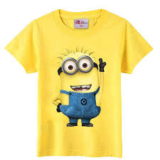 christmas children's clothing minions t shirt kids baby boy girl ...