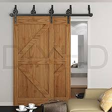 bypass barn door hardware. DIYHD 8ft Industrial Spoke Wheel Bypass Barn Door Track Stablest Sliding Hardware C