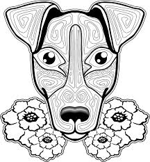 Small Picture 8 best Dog Coloring Pages For Adults images on Pinterest