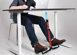 a new swing for your feet aims to turn sitting at a desk into a microworkout and upend office norms around posture