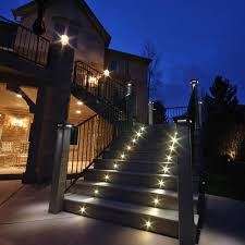 staircase lighting led. image of outdoor stair lights led postcaps staircase lighting