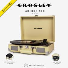 <b>CROSLEY CRUISER DELUXE</b> PORTABLE TURNTABLE FAWN ...