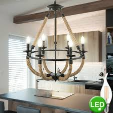 Lampe Pendel Led Retro Kronleuchter Zimmer Dimmbar Lampe