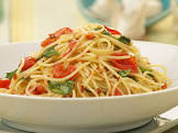 angel hair with cherry tomatoes and basil