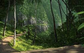 Wallpaper road, greens, trees, nature ...