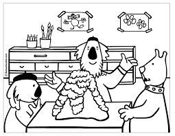 Small Picture Coloring Science Coloring Page