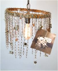 chain link pendant lamp light w clips for photos pictures artwork business cards factory the kings bay