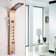 handheld shower panel with digital display shower column massage jets tub spout