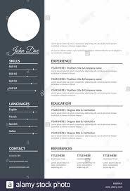 Resume Template Vector Illustration Eps 10 Stock Vector Art