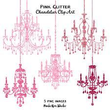pink glitter chandelier clip art sparkling glitter chandeliers