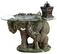 elephants majesty glass topped cocktail table elephant end tropical coffee tables elephant end tables table glass