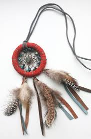 What Native American Tribes Use Dream Catchers Dream Catcher Necklace Boho Dream Catcher Necklace Leather Dream 55