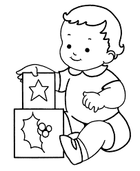 Small Picture Learning Years Christmas Coloring Pages Baby with presents