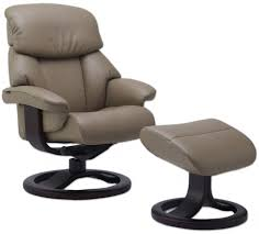 fjords alfa  ergonomic leather recliner chair  ottoman