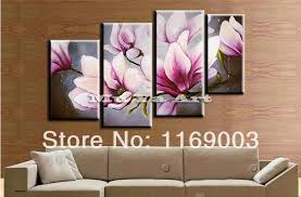 beautiful flowers large piece modern canvas wall art abstract pink orchid handmade oil painting comfortable