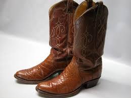 Vintage Justin Mens Cowboy Boots 9710 Sz 8 5d Reptile Maple