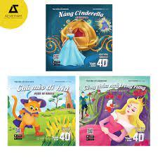 Sách - Bộ Hoạt Hình Song Ngữ 4D Lâu Đài Kỳ Bí (Nàng Cinderella - Chú Mèo Đi  Hia - Công Chúa Ngủ Trong Rừng)