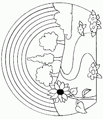 Small Picture Nature Coloring Pages Mushroom Nature Coloring Page For Kids