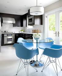 eames molded plastic eiffel armchairs view full size modern contemporary kitchen with polished chrome dining table