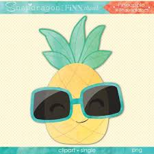 pineapple with sunglasses clipart. watercolor pineapple with sunglasses clipart single g