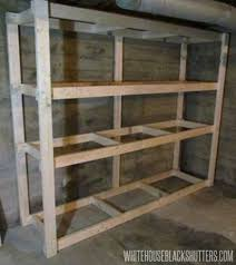 how to make storage shelves. Cheap Garage Shelves Ideas How To Make Basement Storage Shelf White House Black Shutters