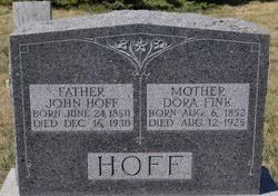 Dora Fink Hoff (1852-1925) - Find A Grave Memorial