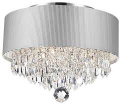 contemporary modern 3 light chrome crystal chandelier silver pertaining to incredible property chrome drum chandelier prepare