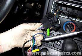 bmw z radio removal and replacement pelican parts when installing an aftermarket radio you will need an adapter for the electrical connector