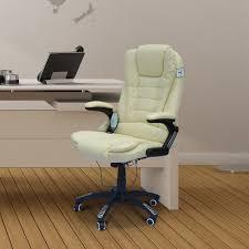executive computer chair. HOMCOM Massage Chair Office Computer Executive Ergonomic Heated Vibrating Beige